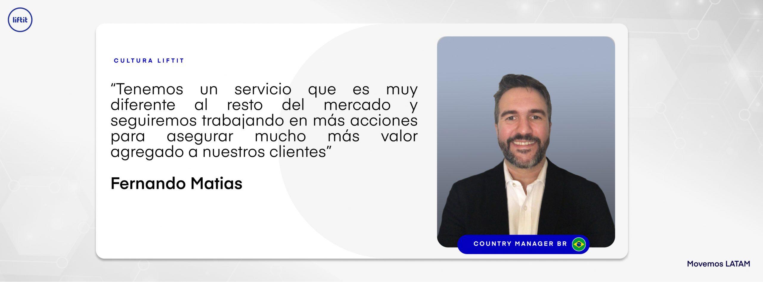 Logistica, Country Manager Brasil, Fernando Matias